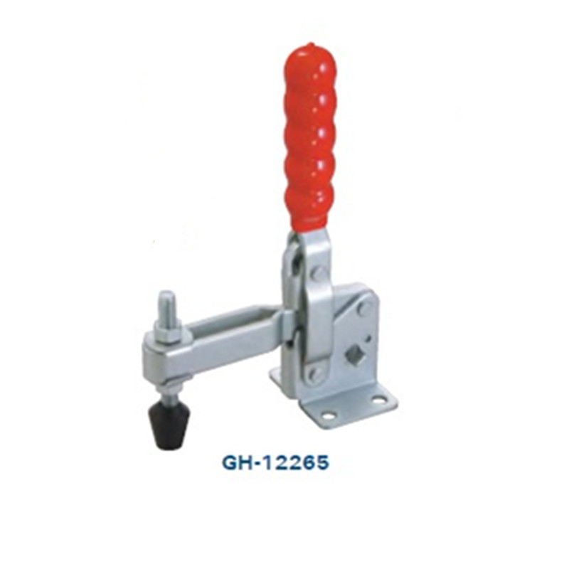 340Kg/750lb Holding Capacity Metal Clip Vertical Type Toggle Clamp Rod Vertical Arm Welding Machine Operation Mold gh 305 em push pull type metal toggle clamp 386kg holding capacity