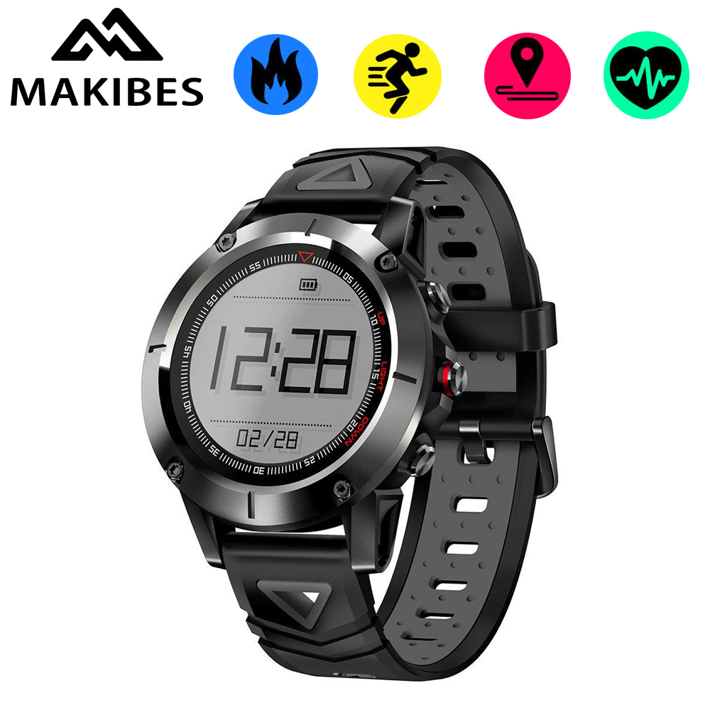 Makibes K6 Smartwatch Android iOS GPS IP68 Waterproof Heart Rate Monitor Fitness Tracker Compass Touch Screen Sports Watch Men volemer gps smart watch ip68 waterproof sports heart rate monitor bluetooth wristband oxygen compass smartwatch for android ios