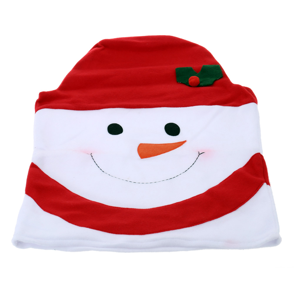 Aliexpress Buy 4pcs Set Christmas Snowman Santa Clause Hat Chair Back Covers Festival Decoration For Dinner Decor Home Decorations Ornaments From