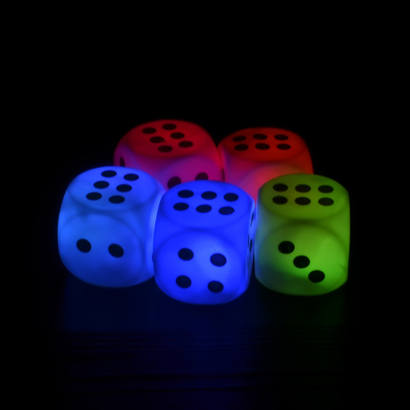 Luminous KTV bar game fun dice toys adult game for party event supplies free shipping 10pcs/Lot