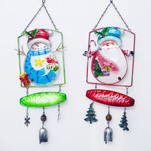 Christmas decorations for home bells pendant wind chime Santa Claus Snowman door hanging decor New Year Decoration navidad(China)