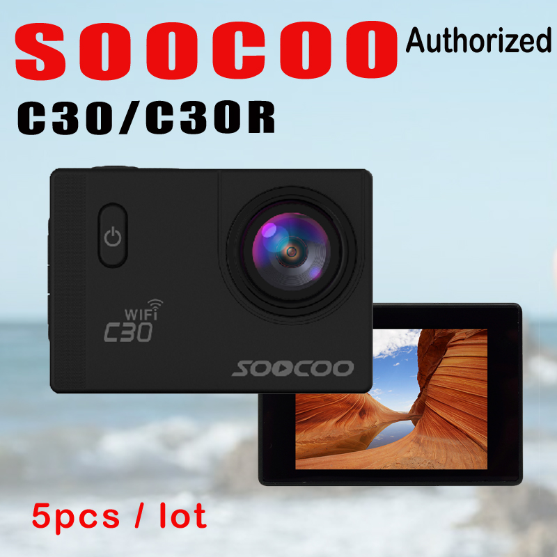 SOOCOO C30R C30 4K Wifi Action Camera Wireless Remote Control Sport Cam 1080P Full HD Waterproof Helmet Bicycle Mini Outdoor DV attention mini waterproof action camera dv 126 170d viewing angle full hd 1080p wifi remote control fantastic sport camera
