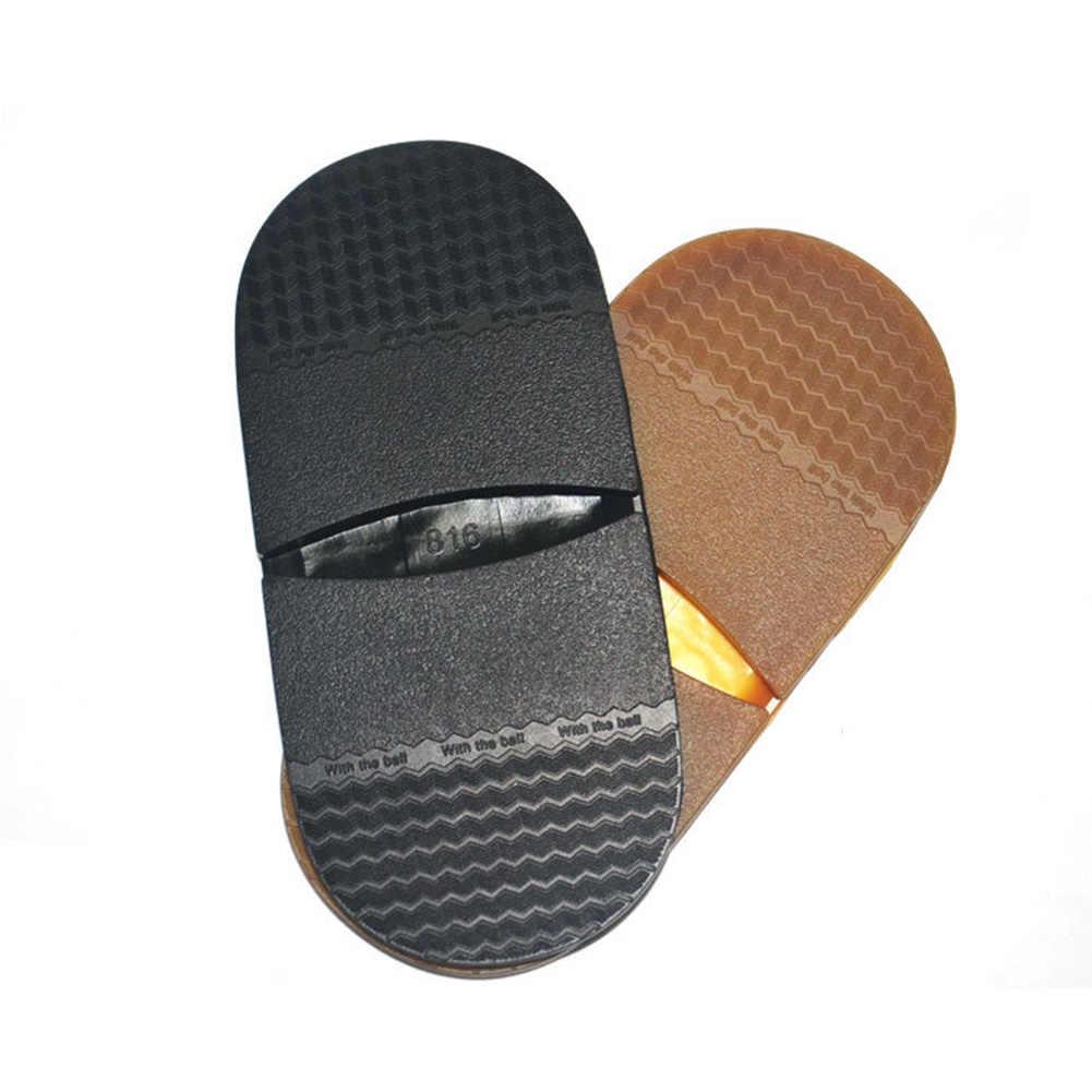 1 çift kalınlaşmak yumuşak elastik kauçuk topuk düz ayakkabı tabanı tamir topuk koruyucu DIY yedek Anti kayma taban erkekler kadınlar