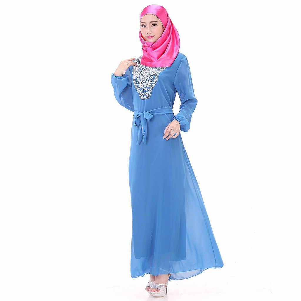 חדש מוסלמי שמלת נשים 2019 אופנה מוסלמי נשים של המפלגה ארוך מקסי שמלת העבאיה קפטן Jilbab האסלאמי קוקטייל חלוק העבאיה הרמדאן