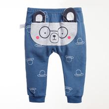 Cute Cartoon wzór spodnie dla niemowląt chłopcy Harem spodnie bawełniane ciepłe spodnie wiosna i spodnie na jesień bawełna wzór spodnie spodnie dla niemowląt tanie tanio YAOYAO BEAR COTTON Dla dzieci Na co dzień Elastyczny pas Pasuje prawda na wymiar weź swój normalny rozmiar Pełnej długości