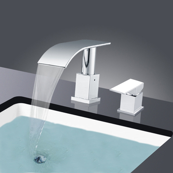 Basin Faucets Waterfall Bathroom Faucet Single handle Basin Mixer Tap Bath Faucet Chrome Finish Brass Sink Water Crane Taps