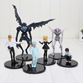 Anime Cartoon Death Note L Killer Ryuuku Rem Misa Amane PVC Action Figures Toys 6pcs/lot Free Shipping