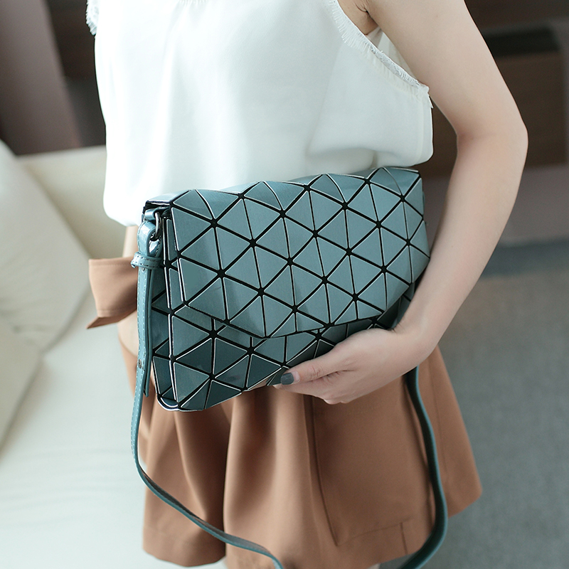 Matte Designer Women Evening Bag Shoulder Bags Girls Bao Bao Flap Handbag Fashion Geometric BaoBao Casual Clutch Messenger Bags dlkluo 2017 luminous women bao bao bag high end geometric handbags plaid shoulder diamond lattice baobao ladies messenger bags