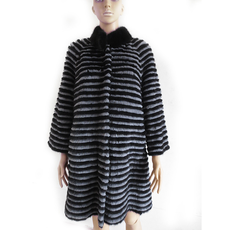 Luxus Herbst Winter frauen Real Nerz Mantel Dame Warme Jacke Oberbekleidung VF7051