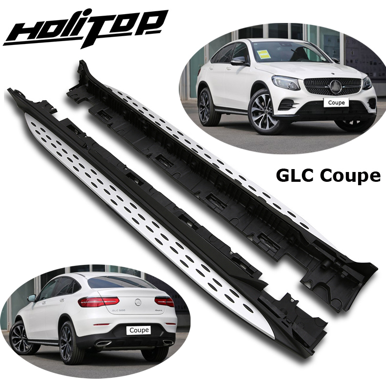 side step side bar running board for for Mercedes Benz GLC Coupe 2017 2018 2019+,from old seller,reliable quality, load 300kg