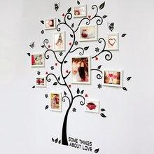 Cadre Photo Cadre Photo arbre Stickers muraux musulman vinyle décor à la maison Stickers marcos de fotos de pared marco de fotos porta 2