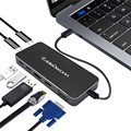 Адаптер Thunderbolt 3 Type C к HDMI Hub USB C к HDMI VGA USB 3 0 USB C зарядка многопортовый конвертер для монитора Macbook