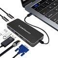Thunderbolt 3 type C-HDMI концентратор адаптер USB C-HDMI VGA USB 3,0 USB C зарядка многопортовый конвертер для монитора Macbook