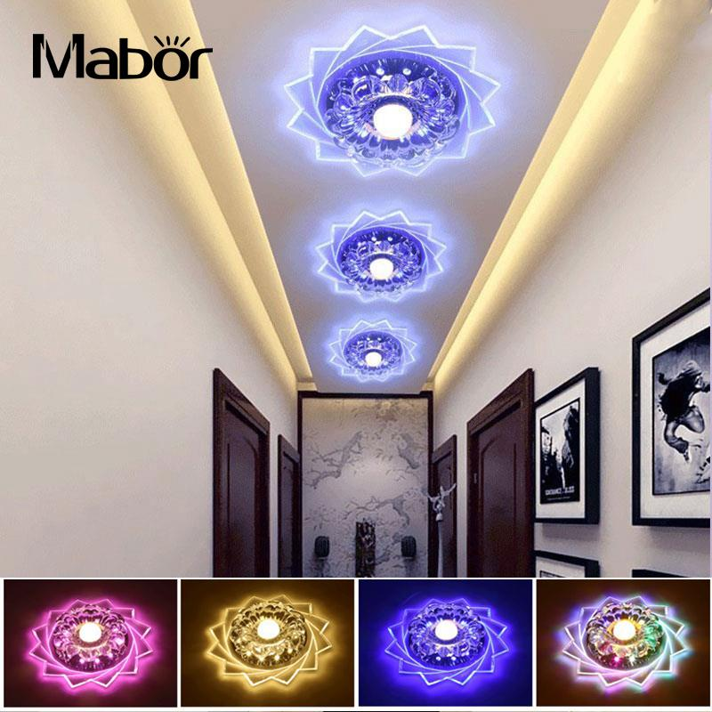 Mabor Crystal LED Ceiling Light 20cm 3W Surface/Flush Mounted Crystal LED Ceiling Light Fixture Lamp