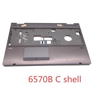 Image 2 - Yeni/Orijinal için Üst kabuk hp ProBook 6570b serisi üst kapak palmrest topcase Dokunmatik hp ad 641204 001