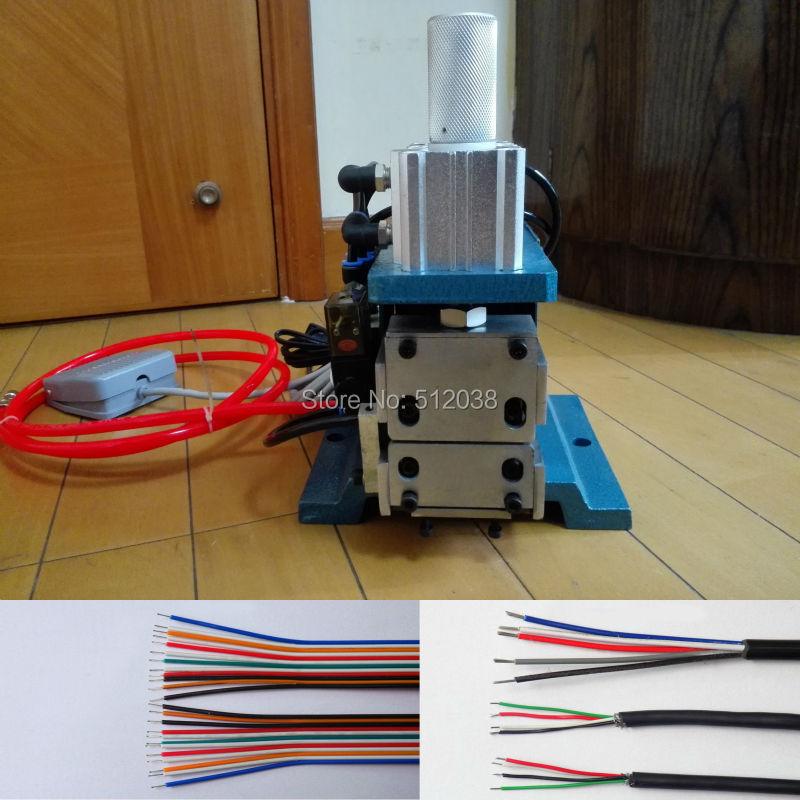 Pneumatico Spogliarellista Filo Piatto Cavo a Nastro filo di aria macchina di spogliatura del cavo stripper 3F