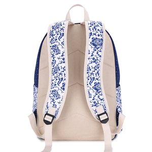 Image 3 - Fengdong sacos de escola para meninas adolescentes do vintage flor lona mochila criança escola crianças ombro caneta lápis saco bookbag