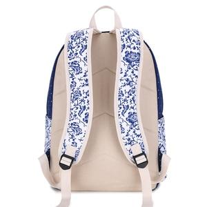Image 3 - Fengdong الحقائب المدرسية للمراهقات خمر زهرة حقيبة من القماش حقيبة المدرسة الطفل الاطفال الكتف القلم حقيبة أقلام رصاص bookbag