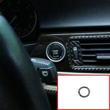 Мягкая углеродное волокно автомобиля start stop стильная кнопка