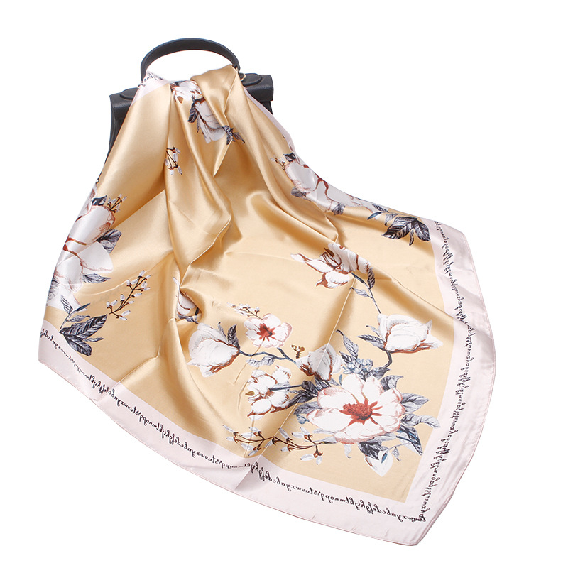 2019 New Fashion Cheap Altar Square Silk Scarf Head Neck Feel Satin Scarf Skinny Retro Hair Tie Band high quality Square Scarf in Women 39 s Scarves from Apparel Accessories