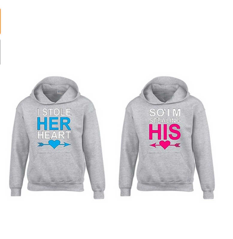 ea62101957 ... I Stole Her Heart So I am Stealing His Hoodie Couple matching Hoodies  Boyfriend or Girlfriend ...