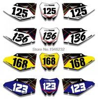 H2CNC Custom Number Plate Background Graphics Sticker & Decal For Suzuki RMZ450 RM Z450 2008 2016 2010 2012 RMZ RM Z 450
