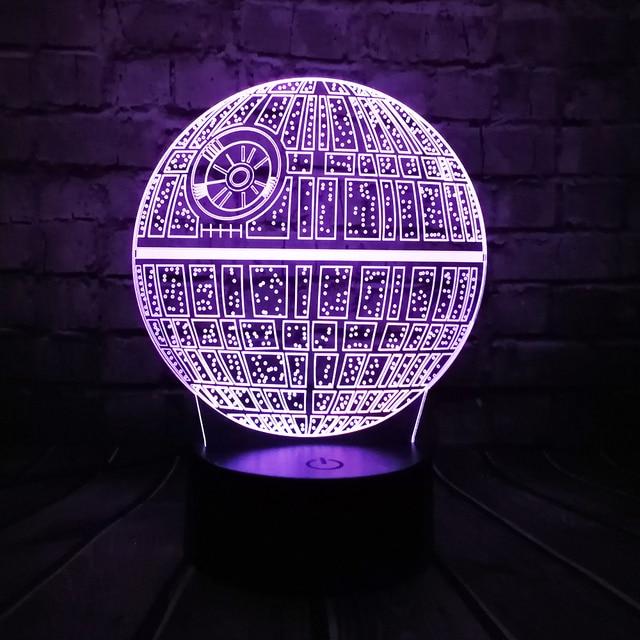 Hot Koop Film Star Wars 3D USB LED Lamp Astro Cartoon Death Star ...