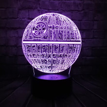 Hot Sale Movie Star Wars 3D USB LED Lamp Astro Cartoon Death Star Colorful Ball Bulb Atmosphere lava Night Lights lighting Gifts(China)