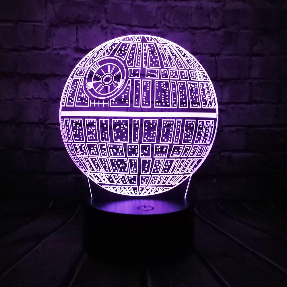 vente chaude film star wars 3d usb led lampe astro de bande dessine mort toiles color balle ampoule ambiance de nuit de lave lumires clairage cadeaux