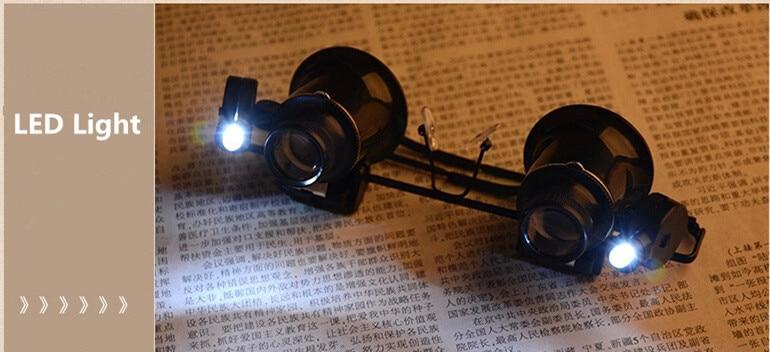 20X Professional kellaparandusluup koos LED-tuledega, valgustava - Mõõtevahendid - Foto 6