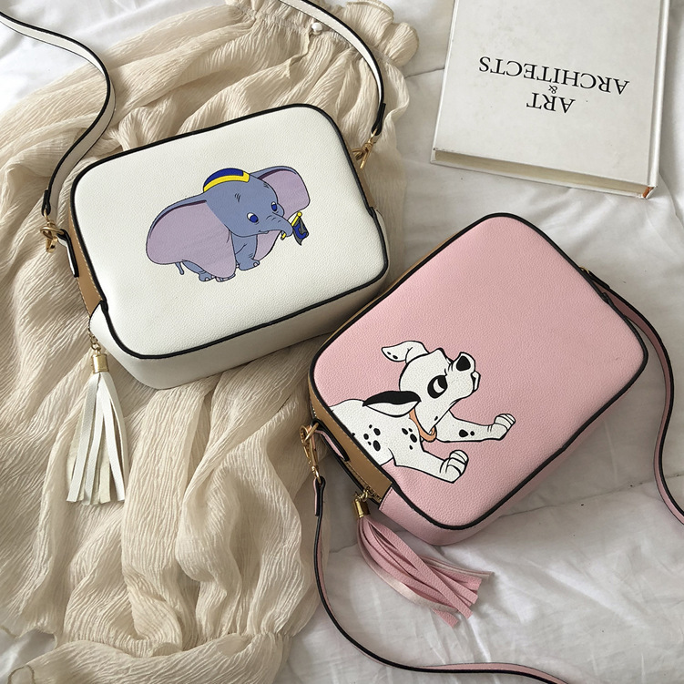Disney Handbag Purse Package Messenger-Bag Shoulder Small Fashion Women Dumbo Cartoon