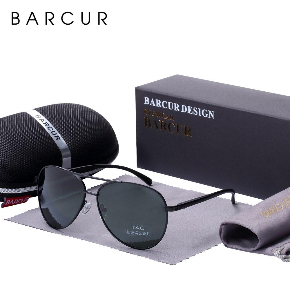 BARCUR Eyewear Accessories Men Sunglasses Male Hot Male Sun Glasses Polarized Sunglasses for Men Glasses