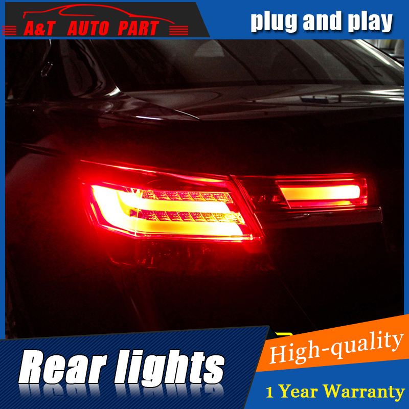 Car Styling LED Tail Lamp for Honda Accord 8 Taillight assembly 2008-2012 for Accord Rear Light DRL+Turn Signal light with 4pcs.