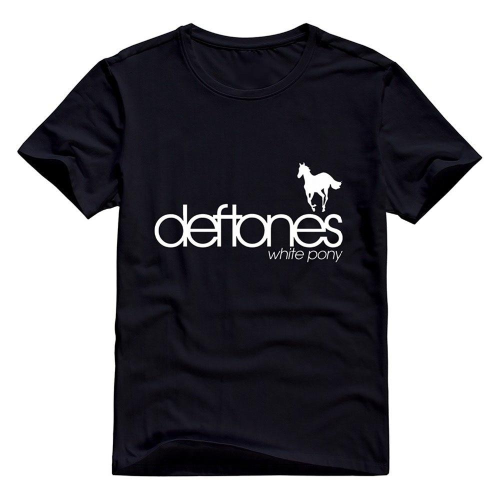 T shirt deftones white pony - Summer Man Punk Rock T Shirt Deftones Rock Band White Pony Hot Topic O Neck T Shirt Men S Shirts Men Clothes Novelty Cool