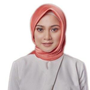 Image 4 - 黒女性の広場シルクスカーフラップ秋冬 Sjaal 高級大型サテンスカーフイスラム教徒のヘッドスカーフ 90*90 センチメートル