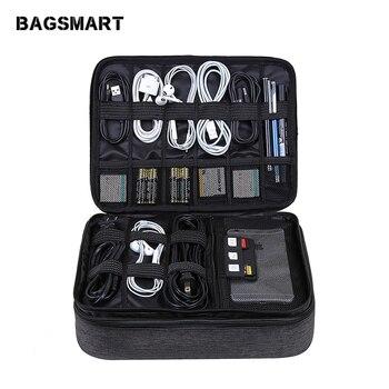 BAGSMART akcesoria podróżne torby Data kabel cyfrowy wykończenia torby danych ładowarka drutu torba Mp3 słuchawki USB flash Drive torba