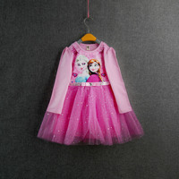 Winter Girl Dresses Elsa Baby Kids Girls Clothes Children Clothing Baby Cute Princess Party Costume Anna