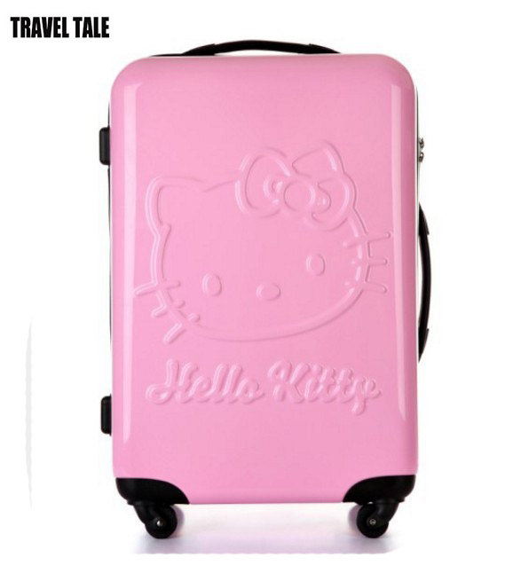 TRAVEL TALE 20 inch hello kitty suitcase trolley bag for girls rose red  trolley travel bags 241debf2a3