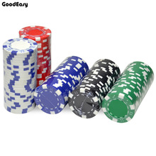 25 PCS / LOT Poker Chips 11.5g Jern / ABS Classic Casino Chips 5 Farver Texas Hold'em Poker Engros Poker Chips Gratis Levering
