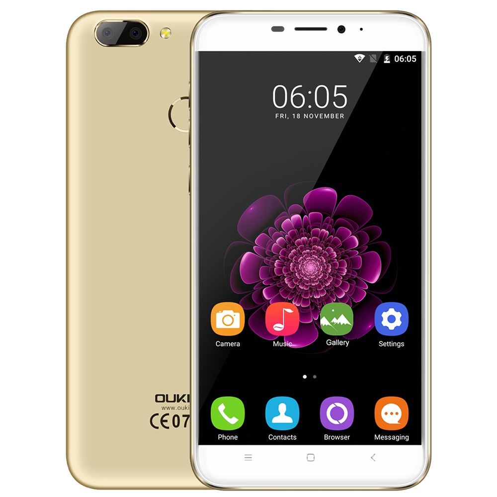 In Stock OUKITEL U20 Plus 5 5 FHD IPS 4G Smartphone Dual Rear Cams Quad Core
