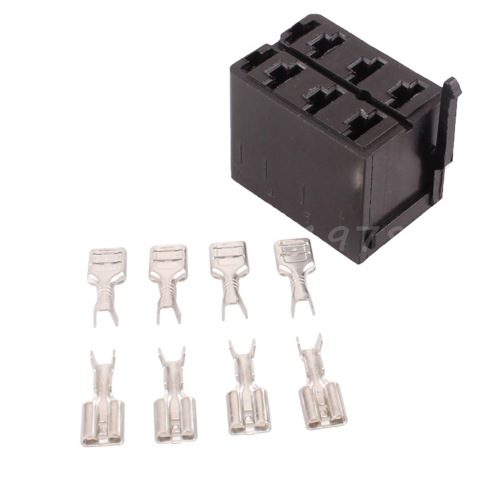 Female Relay Socket Terminals Terminal 8x Spade 1 Rocker Switch Plug