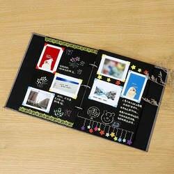 Путешествия журнал черные страницы Лен многоразового подарки DIY Записки записная книжка Craft фотоальбом вкладыш ручной работы на день