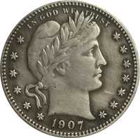 1907 QUARTER DOLLARS BARBER COINS COPY FREE SHIPPING