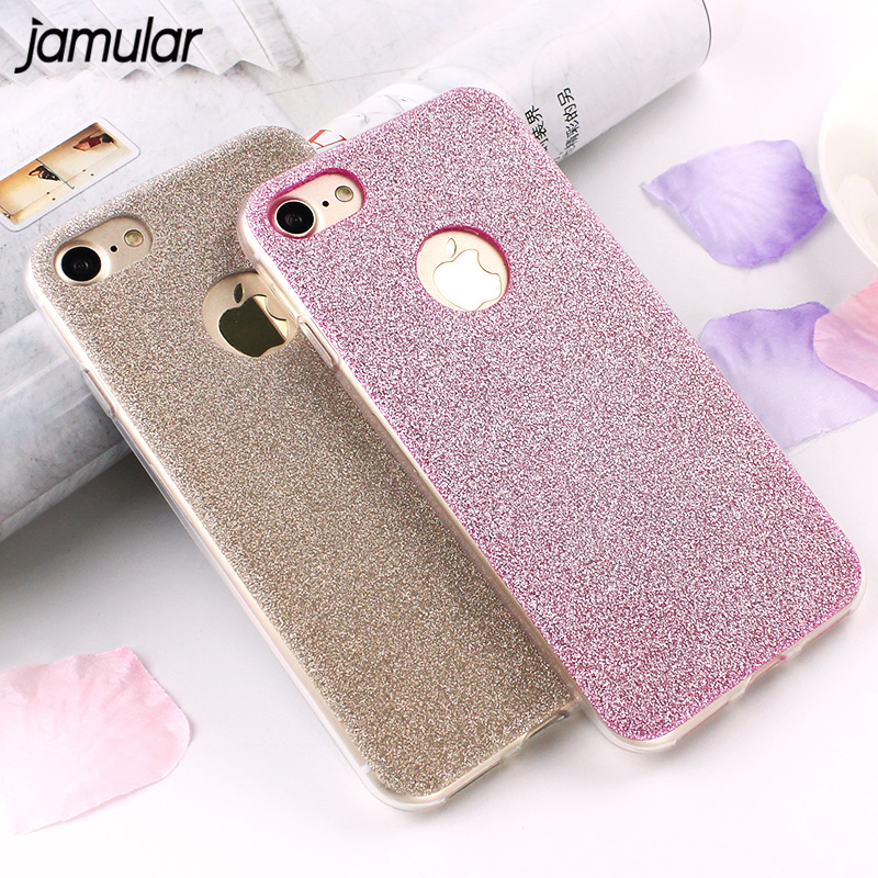 New Luxury Ultra Thin Glitter Bling Cute Candy Cover Case For iPhone 7 6 6s Plus 5 5s Crystal Soft TPU Phone Case With Logo Hole