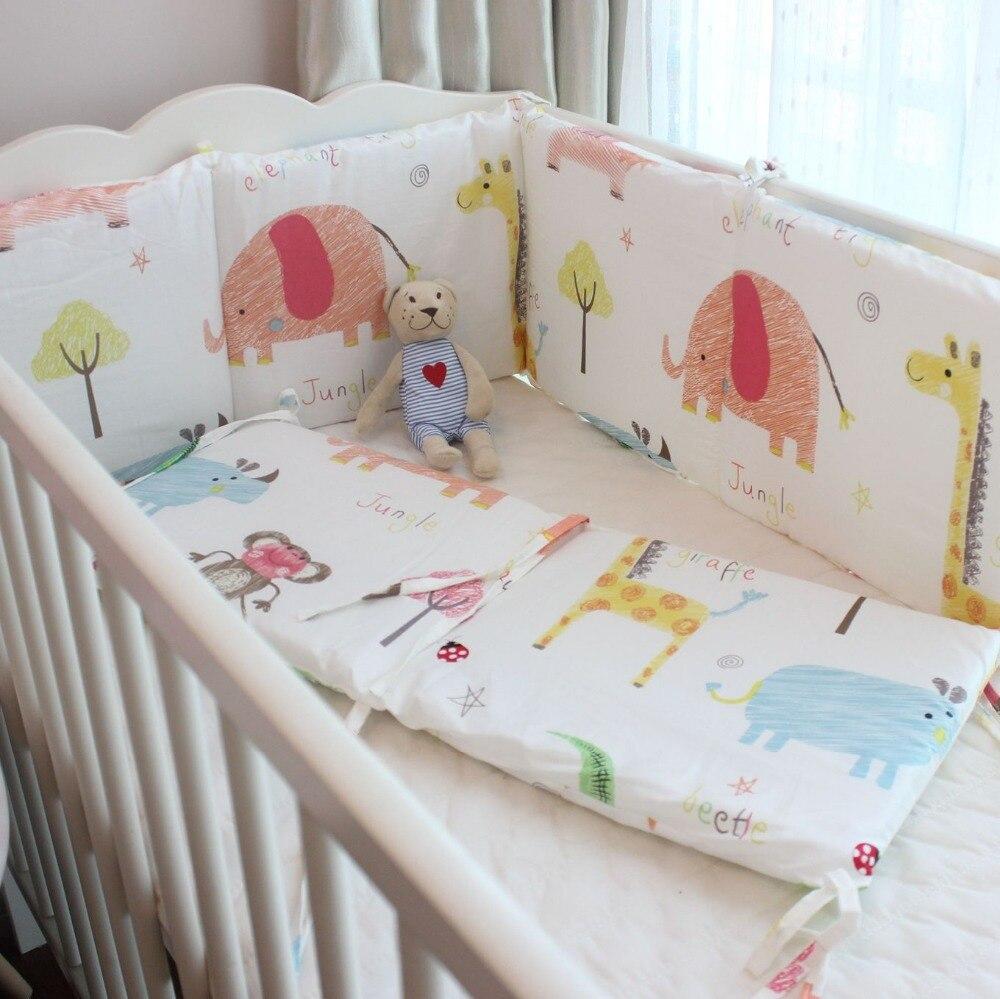 (2 Stücke Bett Stoßstange) Kundenspezifische Baby Bett Schutz Bunte Wolken Tiere Muster Geeignet Für Alle Baby Bett Entlastung Von Hitze Und Sonnenstich