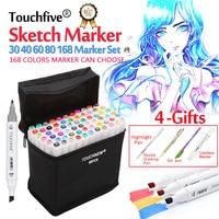 Touchfive 30 40 60 80 168Colors Dual Head Marker Pen Set Copic Sketch Markers Brush Pen
