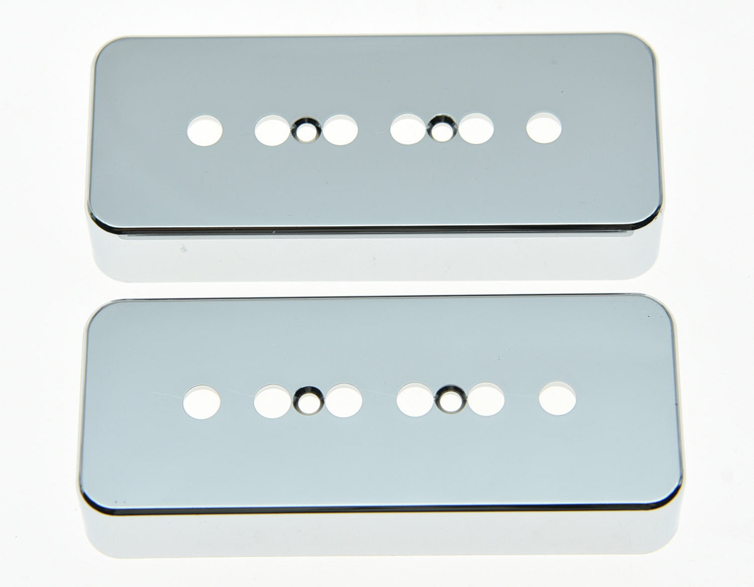 KAISH Set of 2 Plastic Chrome LP Soap bar Guitar Pickup Covers P90 Cover fits LP kaish black p90 high power sound neck