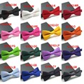 2014 Nuevo color sólido matrimonio Formal pajarita comercial masculina pajaritas para los hombres chalina bowtie mariposas mariposa de color caramelo FR