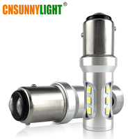 CNSUNNYLIGHT Car LED Stop Lights Canbus 1157 P21 5W BAY15d 3030 9SMD Car Brake Reverse Lamps