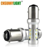 CNSUNNYLIGHT Car LED Stop Lights Canbus 1157 P21 5W BAY15d 3030 9SMD Car Brake Reverse Lamps